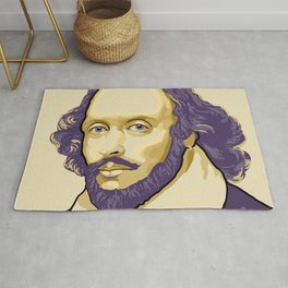 Shakespeare - royal purple and yellow Rug