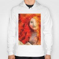redhead Hoodies featuring brave RedHead  by Julia Kovtunyak