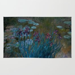 "Claude Monet ""Irises and Water-Lilies"", 1914 - 1917 Rug"
