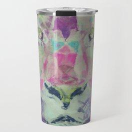 Neon Lion Art Print Travel Mug