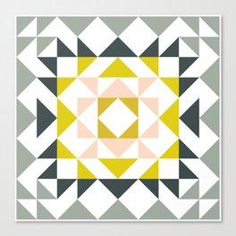Pretty Triangle Modern Medallion Canvas Print