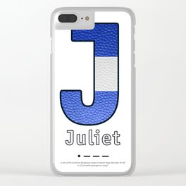 Juliet - Navy Code Clear iPhone Case