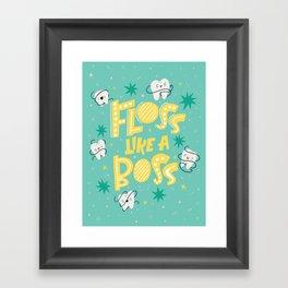 Floss Like A Boss II Framed Art Print