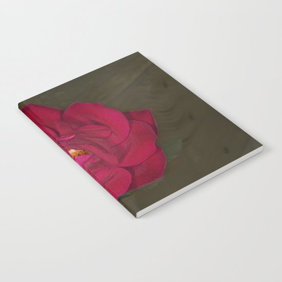 Red Rose in bloom Notebook