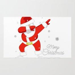 Dabbing Santa Merry Christmas Rug