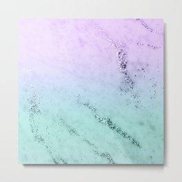 Unicorn Mermaid Girls Glitter Marble #1 #decor #art #society6 Metal Print