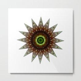 Fractal Wind Rose Metal Print