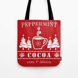 peppermint cocoa Tote Bag