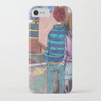 joy division iPhone & iPod Cases featuring Let's dance to joy division by Diana Dypvik