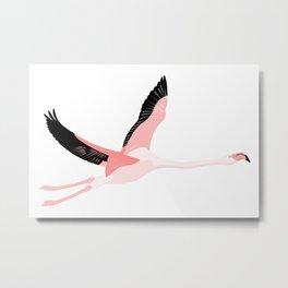 Flying flamingo Metal Print