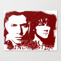 winchester Canvas Prints featuring Team Winchester by Panda Cool