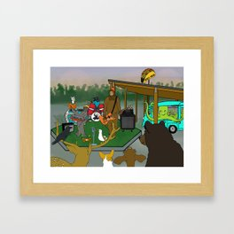 Flock of Gerrys The Band Plays the Taco Song Framed Art Print