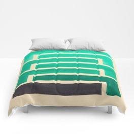 Turquoise Geometric Aztec Pattern Comforters