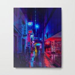 Rainy Tokyo At Night #6 Metal Print