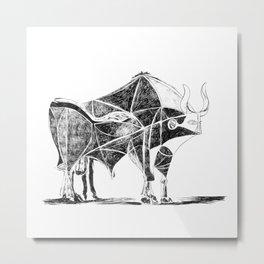 Picasso's Bull Metal Print