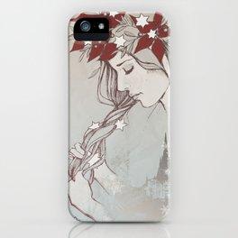 Christmas Lady II iPhone Case