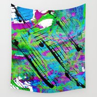 splatter Wall Tapestries featuring Splatter by Angelz
