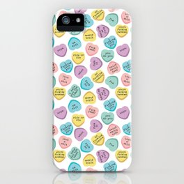 Swearhearts iPhone Case