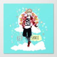 shinee Canvas Prints featuring SHINEE KEY by Haneul Home