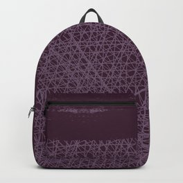 Purple Horizon - Irregular Lines And Paint Backpack