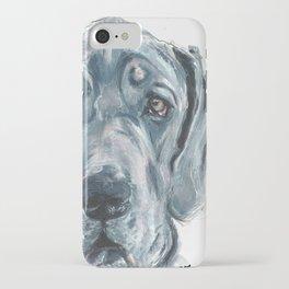 Baden // Blue Great Dane iPhone Case