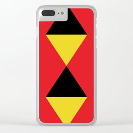Other Rhombuses, one on another, floating in a red sea. Clear iPhone Case