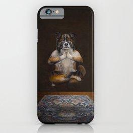 Meditating Dog iPhone Case