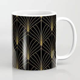 At The Piano Bar... Art Deco Gold Pattern Coffee Mug