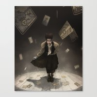 tarot Canvas Prints featuring Tarot Theater by tony dimauro
