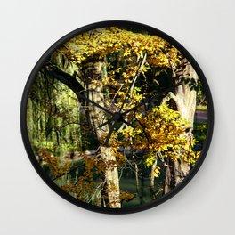 Autumnal reflection Wall Clock