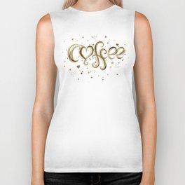 Coffee Molecules Caffeine Biker Tank