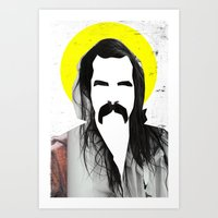 nick cave Art Prints featuring Nick Cave by Teagues Art