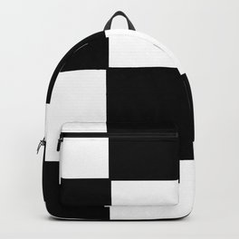 Checkered,black and white checked pattern.Gingham. Backpack