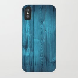 Blue Wood Planks iPhone Case