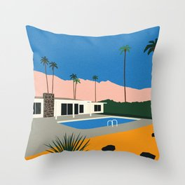 Palm Springs Bungalow Throw Pillow