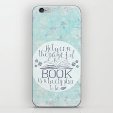 Between the Pages of a Book - Vintage Blue iPhone & iPod Skin