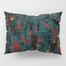 Night city glow cartoon Pillow Sham