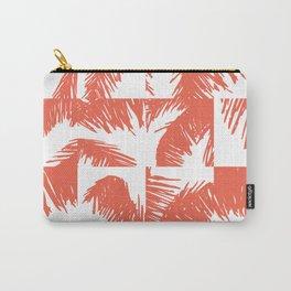 Palm Leaf Pattern Orange Carry-All Pouch