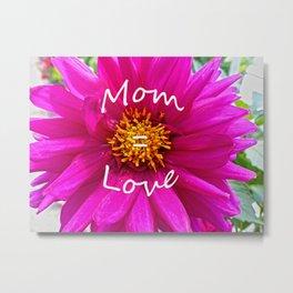 Mom = Love Metal Print