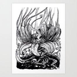plante carnivore Art Print