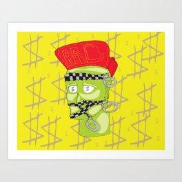 Zipper Boy  Art Print