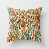 hippy Throw Pillows featuring Hippy Style by thinschi