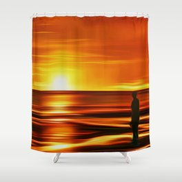 Gormley at Sunset Shower Curtain