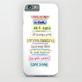 You've Got Mail- Childhood Reading Quote iPhone Case