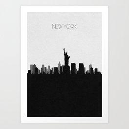 City Skylines: New York City Art Print
