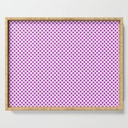 Dazzling Violet Polka Dots Serving Tray
