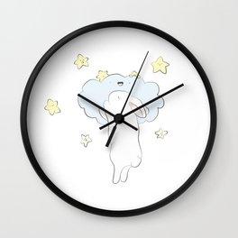 Sleepy Bunny Wall Clock