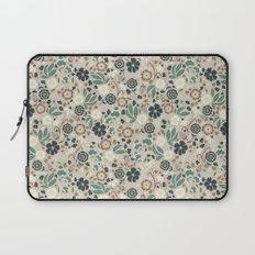 Flourishing Florals (Light-Green) Laptop Sleeve