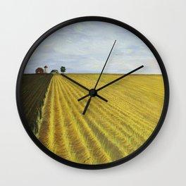 Alone, Farm, Acrylic on Canvas Wall Clock