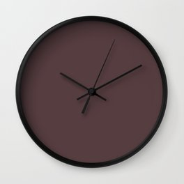 Welcome Warmth ~ Stained Magenta Wall Clock